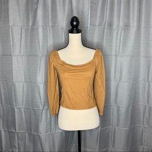 NWT One Clothing Square Neck Smock Back Cr…